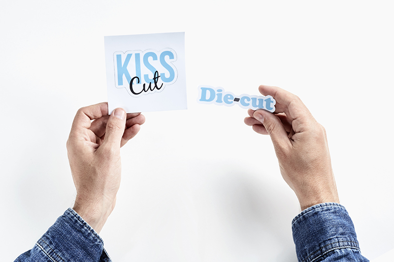 When we have to choose from different types of custom shape stickers we are faced with two options regarding the cut the half cut or the full cut also