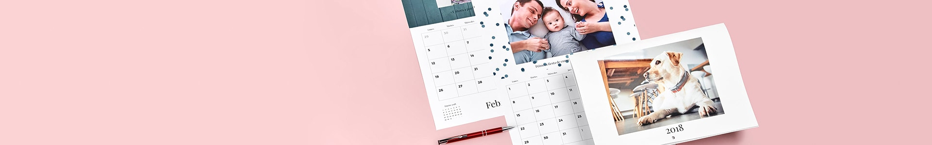 Personalised 2018 wall calendars
